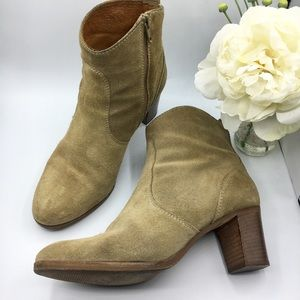 "J.Crew ""Aggie"" Suede Leather Ankle Booties"